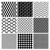Geometric Monochrome Seamless Background Patterns Royalty Free Stock Images