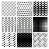 Geometric Monochrome Seamless Background Patterns Stock Photos
