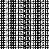 Geometric monochrome seamless pattern Stock Images
