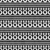 Geometric monochrome seamless pattern Royalty Free Stock Photo