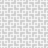 Geometric monochrome seamless pattern in asian style. With overlapping squares Royalty Free Stock Images