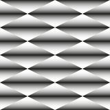 Geometric monochrome seamless pattern of rhombus Royalty Free Stock Images