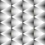 Geometric monochrome seamless pattern of rhombus Royalty Free Stock Photos