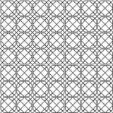 Geometric monochrome seamless pattern. Vector background Stock Photos