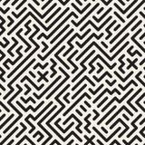 Geometric monochrome striped seamless pattern. Vector background Stock Image