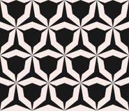 Vector seamless pattern with angular figures, triangular grid. Geometric monochrome texture, vector seamless pattern with simple shapes, angular figures Royalty Free Stock Photos