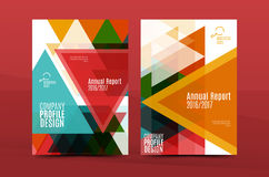 Geometric mosaic design, a4 size business corporate correspondence letter cover. Leaflet, annual report identity template Stock Images