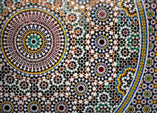Geometric mosaic detail. Detail of larger mosaic, Italy. Beautiful colours Stock Image