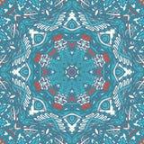 Geometric mosaic ethnic seamless pattern ornament. Festive Colorful Tribal ethnic seamless pattern ornamental. Geometric print. Blue winter holiday snow star Stock Image