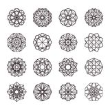 Geometric Mosaic Ornaments Set Royalty Free Stock Photo