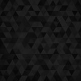 Geometric mosaic pattern from black triangle vector illustration