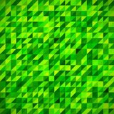 Geometric mosaic pattern from blue triangle Stock Photography