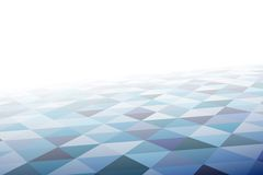 Geometric mosaic pattern in perspective Royalty Free Stock Photo