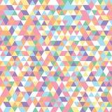 Geometric mosaic pattern triangles colorful pink blue white yellow purple orange Stock Images