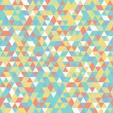 Geometric mosaic pattern yellow blue green white orange triangle. Seamless Geometric abstract mosaic pattern red yellow white green blue triangles. Ideal for Stock Photo