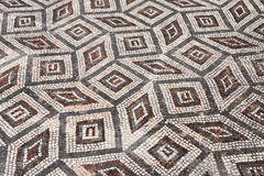 Geometric mosaic, Roman ruins of the ancient Stock Photography