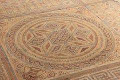 Geometric mosaic, Roman ruins of the ancient city of Conimbriga, Stock Photography