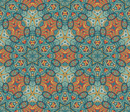 Geometric mosaic seamless pattern. Abstract geometric mosaic vintage ethnic seamless pattern ornamental Stock Images