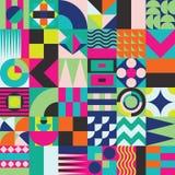 Geometric mosaic seamless pattern Royalty Free Stock Photos