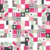 Geometric mosaic seamless pattern royalty free illustration