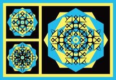 Geometric Motifs or Medallions Royalty Free Stock Photo