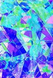 Geometric Multicolor Abstract Watercolor Background With Lines  And Triangles Stock Photo