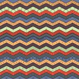 Geometric multicolor chevron or zig zag, seamless tribal pattern. Geometric multicolor chevron or zig zag seamless pattern for textile and backgrounds Royalty Free Stock Image
