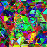 Geometric multicolor colorful abstract background with lines  an Stock Images