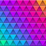 Geometric multicolored pattern composed of triangular elements. Vector background Stock Photography