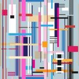 Seamless bright geometric stripes pattern Royalty Free Stock Photos
