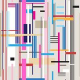 Seamless bright geometric stripes pattern Stock Photography