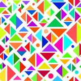 Geometric Multicolored Seamless Pattern Stock Photo