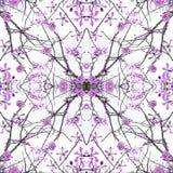 Geometric Nature Collage Pattern Stock Image