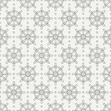 Geometric nautical seamless background pattern with steering wheel. Vector illustration texture for design, wallpaper. Geometric nautical seamless background Stock Photography