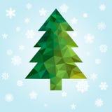 Geometric new year tree Royalty Free Stock Photo
