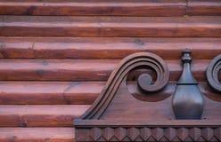 Geometric. Nice particular of a wood geometric window Stock Image