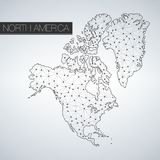 Geometric North America Continent, Light Version, clean design, easy to customize template Royalty Free Stock Images