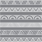 Geometric obstract ornaments or borders. White geometric obstract ornaments or borders on gray background for decoration design Royalty Free Stock Image