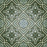 Geometric Oil Paint Decorative Seamless Pattern. Green Oil Paint Decorative Seamless Pattern Royalty Free Stock Photos