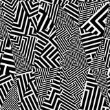 Geometric optical seamless pattern. Stock Photos