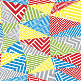 Geometric optical seamless pattern. Stock Images