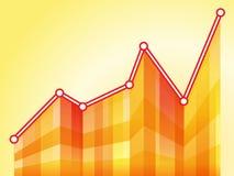 Geometric orange graph diagram Royalty Free Stock Images