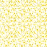 Geometric orange juice dots seamless pattern. Orange connected dots geometric background. Seamless tile royalty free illustration