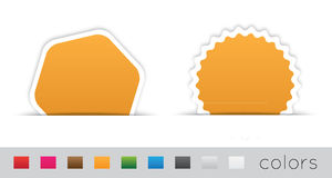 Geometric orange labels Stock Photography