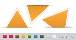 Geometric orange labels. On a white background Stock Images