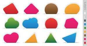 Geometric orange sticker. Set on a white background Stock Photo
