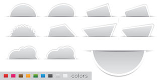Geometric orange sticker. Set on a white background Stock Images