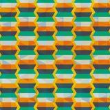 Geometric orange yellow blue background patterns icon Royalty Free Stock Photography