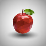 Geometric origami apple with grey background Royalty Free Stock Images