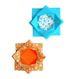 Geometric origami lotus flowers Stock Images